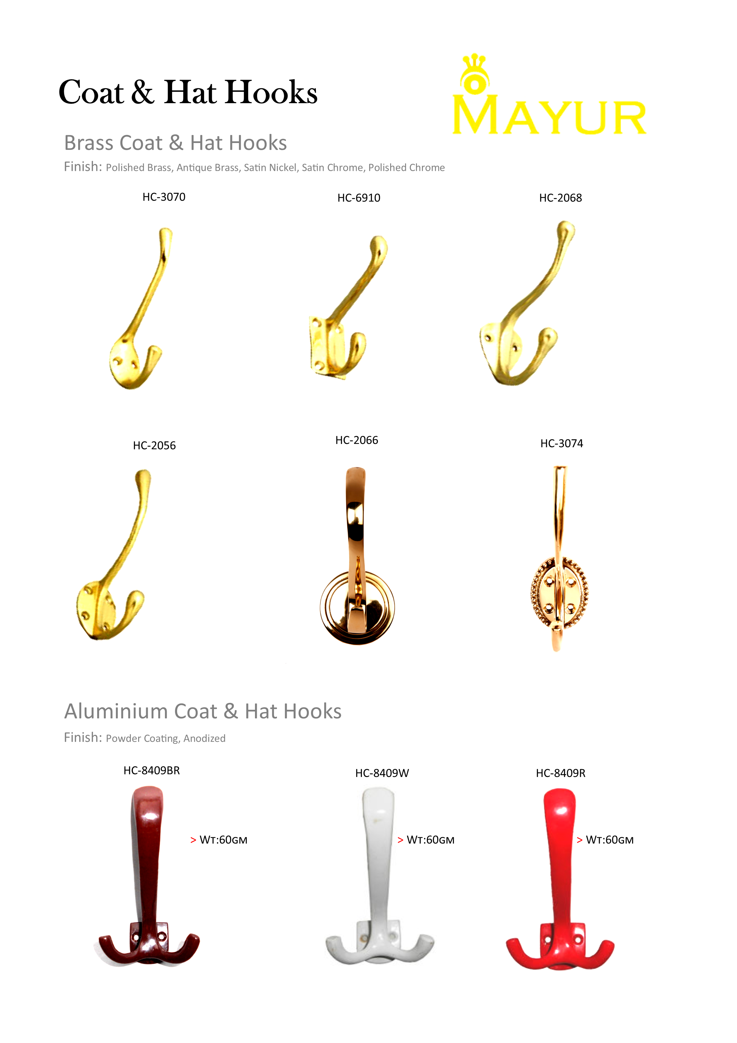 Uncategorized Powder Coating Hooks manufacturer retail and export of brass builder hardware follow us